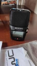 Gravador Digital Zoom H2n Handy Recorder De Áudio + Sd Card