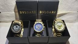 Relógios Masculinos Bvulgari, Rolex, Oakley e G-Shock.