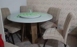 Título do anúncio: Mesa com 6 cadeiras molas ensacadas