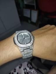 Relógio Cravejado Full Iced