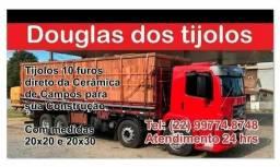 Título do anúncio: Tijolos Lajotas de Campos-Rj 10 furos com preço especial para sua Obra