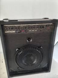 Caixa amplificada grande pega FM pendrive broetooth controle remoto