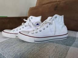 All Star branco cano médio