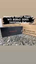 Título do anúncio: Memoria Gamer Asgard W3 8GBx2 DDR4 3600Mhz Rgb