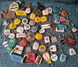 Chaveiros antigos, décadas de 70 a 90