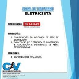 Título do anúncio: Vaga para eletricista