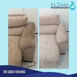 Lavagem a seco e higienização de estofados em geral