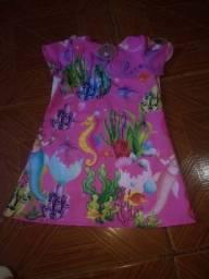 Vendo vestido infantil rosa