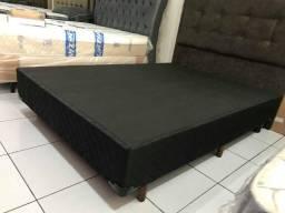 Título do anúncio: Base Box Qualitá Casal em Poliéster Preto