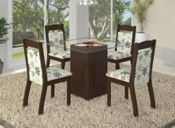 * Mesa Adry com 4 cadeiras garanta já