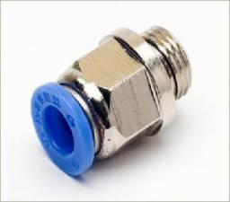 Título do anúncio: Conector Engate Rápido Tubo Pu 6mm X Rosca 1/8 Bsp - 5 Pçs
