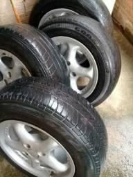 Aro 14 com pneus de liga leve 200 comprar usado  Porto Velho