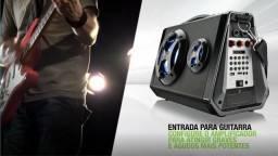 Caixa Amplificadora de Som Bluetooth Karaoke Fm - Multilaser