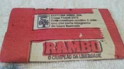 Envelope de Figurinha lacrado Rambo 1988