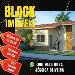 64- A menor entrada do mercado em condomínio de casas