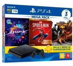 PS4 Slim 1TB bundle com 3 jogos + PS Plus Lacrado garantia 1 ano