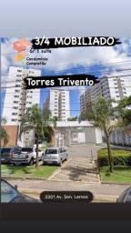Torre Trivento 3 Quartos ,  MOBILIADO Av. Senador Lemos, Telégrafo, Nascente