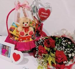 Cestas para presente, cestas de café da manhã, cestas de chocolate e aniversario