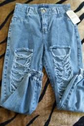 Calça  Jogger jeans destroyed