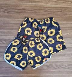 Kit casal shorts