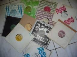 Lote com 13 discos para dj's