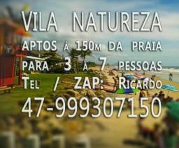 Promoção Carnaval Itapoá, aptos 2 quartos para 6 pessoas, à 150m da praia