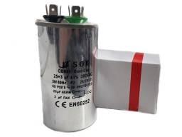 Capacitor de Partida Ar Condicionado Capacitor Duplo 25+3 UF 380 Vac +-50x90mm