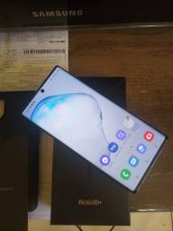 Samsung Note 10+ Plus impecável completo com nota fiscal, 256 GB e 12 de RAM.