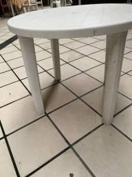 Conjunto de Mesa Redonda cassino branca e cadeira - Tramontina