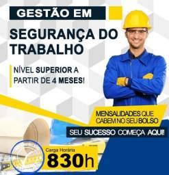 Faça Curso Superior de Segurança do Trabalho 100% ead