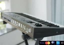 Teclado sintetizador Kurzweil Kme 61. Aceito cartão.