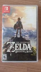 Zelda Switch Breath of Wind mídia física