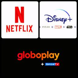 Título do anúncio: Netflix Globoplay Disney Telecine
