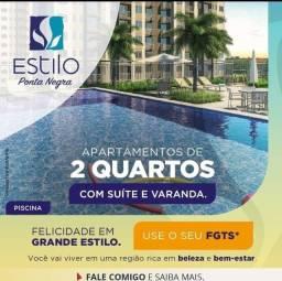 Título do anúncio: Apartamento para venda possui 49 metros quadrados com 2 quartos em Ponta Negra - Manaus -