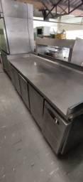 Balcão Refrigerado em Aço Inox Macom 4 portas