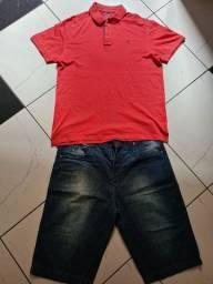 Bermuda Jeans 54 e Camisa Broskfield gg