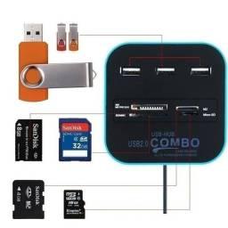 Multi USB Combo USB Hub 2.0 3 Ports