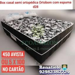 Título do anúncio: Cama Box Casal Espuma D28 ((Ortobom)) frete gratis