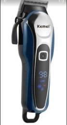 Máquina de Cortador de cabelo Kemei KM-1995  azul e preto