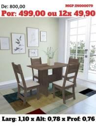 Título do anúncio: Conjunto de Mesa de 4 Cadeira- Mesa de Jantar - Saldão de 40% Descontasso