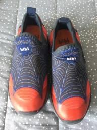 Tênis Bibi Homem Aranha azul e vermelho 27