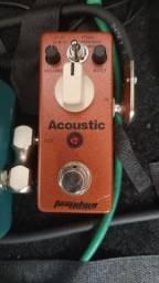 Pedal acústico para violão de aço.