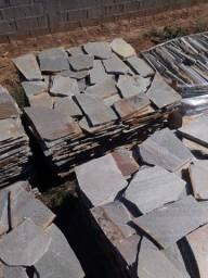 Título do anúncio: Caco de Pedra Verde Legítimo Calçada Passeio Piso Piscina Promoção DoMeuGosto