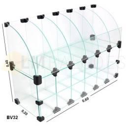 Título do anúncio: Baleiro Expositor De Vidro Raio  0,60 x 0,40 x 0,20! Conheça Todos os Nossos Modelos
