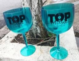 Kit 100 Taças de Gin 580ml Acrílico Personalizadas