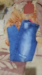 Título do anúncio: Calça  jeans 44/46 com laycra
