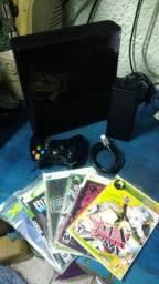 Xbox 360 Super Slim Destravado Com 5 Jogos