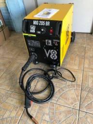 Título do anúncio: Máquina de Solda Mig 205 Com tocha (Garantia 10x cartão )