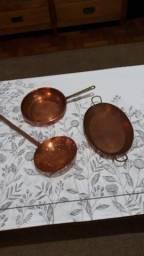 Jogo de panelas em cobre