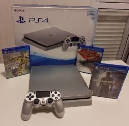 PS4 500gb Ed Silver Colecionador